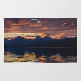 Sunrise Glacier National Park - Lake McDonald Rug
