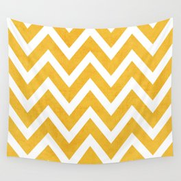 yellow chevron Wall Tapestry