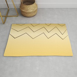 design lines ethnic on gold Rug