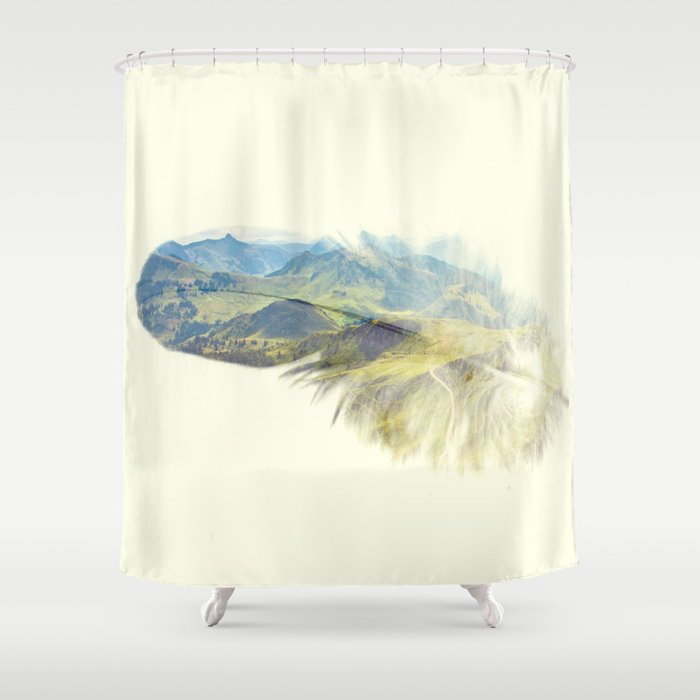 Feather Shower Curtain By Kikicastel
