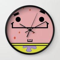 patrick Wall Clocks featuring Patrick by nu boniglio
