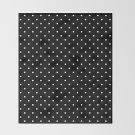 Small Black and White Polka Dots pattern  Throw Blanket
