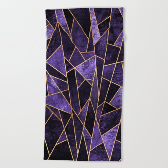 Shattered Amethyst Beach Towel