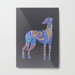 Azawakh Totem Metal Print
