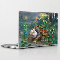 fireflies Laptop & iPad Skins featuring fireflies by Fargon