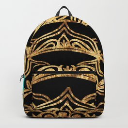 Gold Lace on Turquoise Backpack