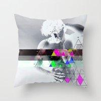 apollo Throw Pillows featuring my apollo by Robert Alan