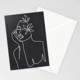 Abstract Minimal Woman III Stationery Cards