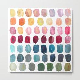 Color Palette Metal Print