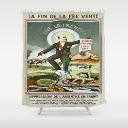 Vintage poster - La Finn de la Fee Verte Shower Curtain