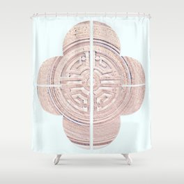 Geometry of a Ginger Jar III - series Shower Curtain