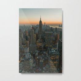 New York Skyline - Manhattan Night Metal Print
