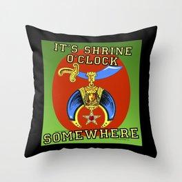 It's Shrine O'Clock Somewhere Throw Pillow