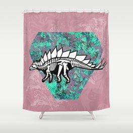 Stegosaur Fossil Shower Curtain