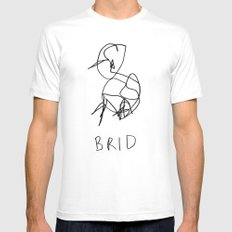 brid SMALL White Mens Fitted Tee