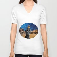 western V-neck T-shirts featuring Western by Cs025