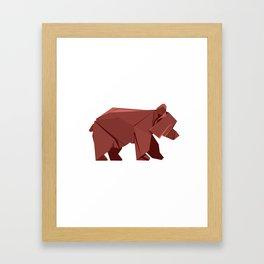 Origami Bear Framed Art Print