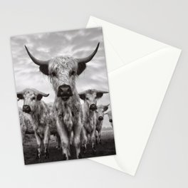 Highland Cattle Mixed Breed Mono Stationery Cards