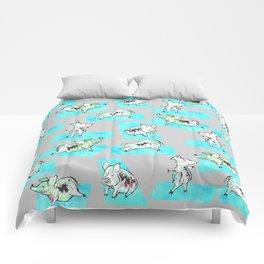 Aqua Yoga Pigs - Downward Facing Hog Comforters