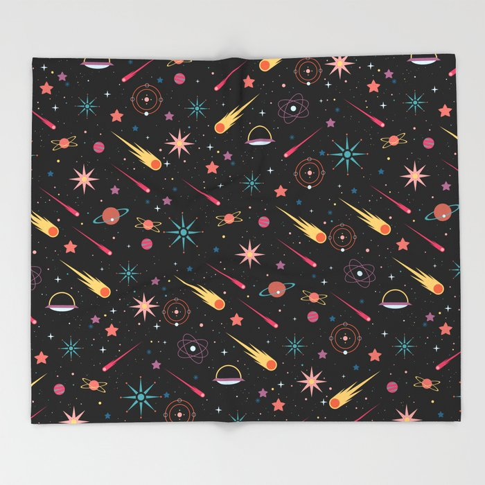 Fly Through Space Throw Blanket