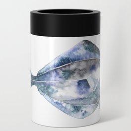 Flat Fish Watercolor Can Cooler