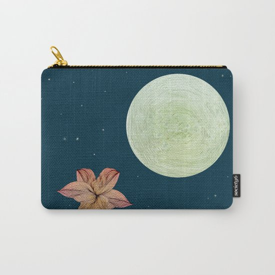 Moonlit Flower Carry-All Pouch