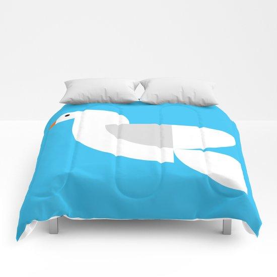 Geometric Dove Comforters