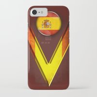 spain iPhone & iPod Cases featuring Spain by ilustrarte
