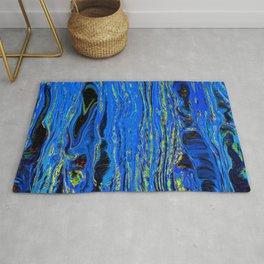 blue flow Rug