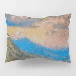 Distant Mountains Impressionistic Pillow Sham