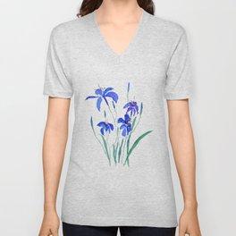 blue day lily Unisex V-Neck