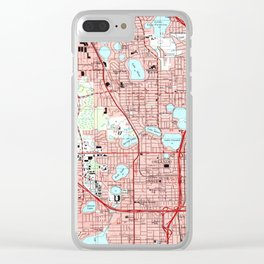 Orlando Florida Map (1995) Clear iPhone Case
