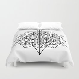 Star tetrahedron, sacred geometry, void theory Duvet Cover