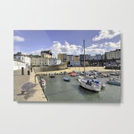 Tenby Harbour Beach  Metal Print