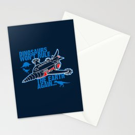 FIGHT THE DINOS Stationery Cards