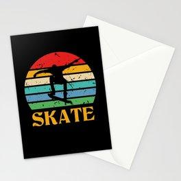 Retro Skate Skateboard Skateboarding Stationery Cards
