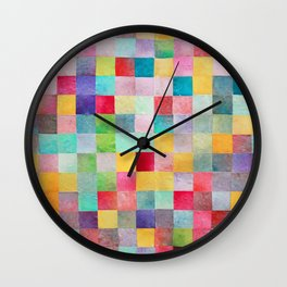 Pattern mosaic Wall Clock