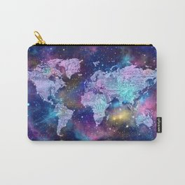 world map galaxy purple Carry-All Pouch