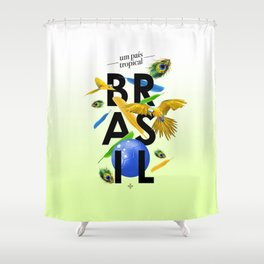 BRASIL Feather - CAPOEIRA RULES Shower Curtain