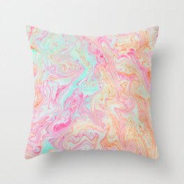 Tutti Frutti Marble Throw Pillow