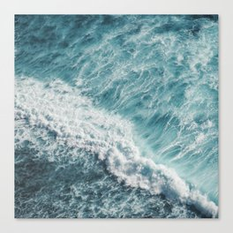 Saltwater Feelings Ocean Surf Canvas Print