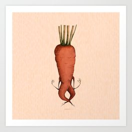 meditating carrot Art Print