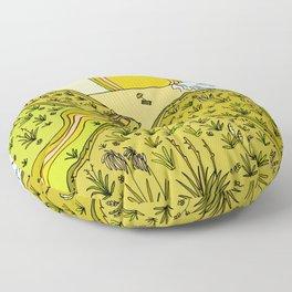 keen for a surf nz surf adventure by surfy birdy Floor Pillow