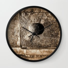 Sepia Guard Rail Wall Clock