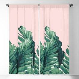 Blush Banana Leaves Dream #3 #tropical #decor #art #society6 Blackout Curtain