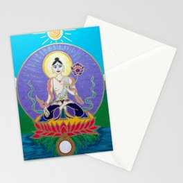 White Tara 3 Stationery Cards