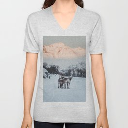 Hitch-hikers - Landscape and Nature Photography Unisex V-Neck
