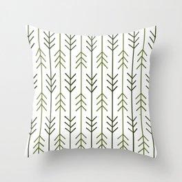 Arrows - Green Throw Pillow