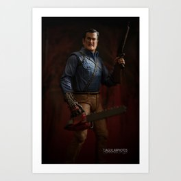 """""""I'm going to shove this right up some deadites ass! Hyah!"""" Art Print"""