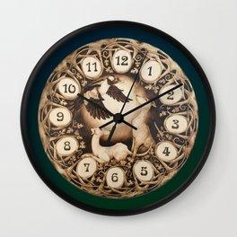 Greyhound Art Nouveau Clock Wall Clock